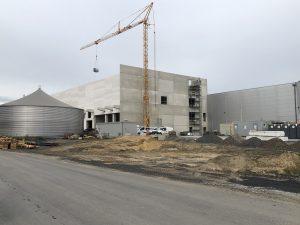 Material von Hydewa bei neuer Halle von Vossko